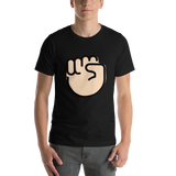 Emoji T-Shirt Store | Raised Fist, Light Skin Tone emoji t-shirt in Black