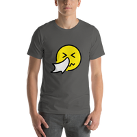 Emoji T-Shirt Store | Sneezing Face emoji t-shirt in Dark gray