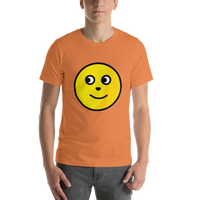Emoji T-Shirt Store | Full Moon Face emoji t-shirt in Orange