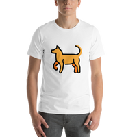 Emoji T-Shirt Store | Dog emoji t-shirt in White
