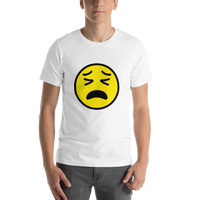 Emoji T-Shirt Store | Tired Face emoji t-shirt in White
