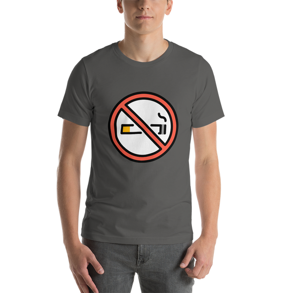 Emoji T-Shirt Store | No Smoking emoji t-shirt in Dark gray