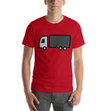Emoji T-Shirt Store | Articulated Lorry emoji t-shirt in Red
