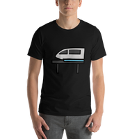 Emoji T-Shirt Store | Monorail emoji t-shirt in Black