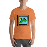Emoji T-Shirt Store | Framed Picture emoji t-shirt in Orange