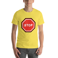 Emoji T-Shirt Store | Stop Sign emoji t-shirt in Yellow