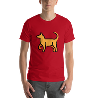 Emoji T-Shirt Store | Dog emoji t-shirt in Red