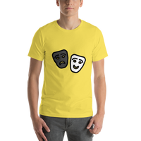 Emoji T-Shirt Store | Performing Arts emoji t-shirt in Yellow