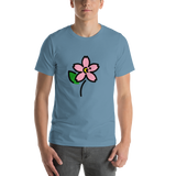 Emoji T-Shirt Store | Cherry Blossom emoji t-shirt in Blue