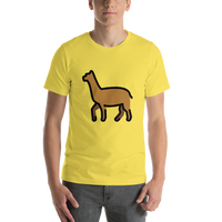 Emoji T-Shirt Store | Llama emoji t-shirt in Yellow