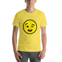 Emoji T-Shirt Store | Winking Face emoji t-shirt in Yellow