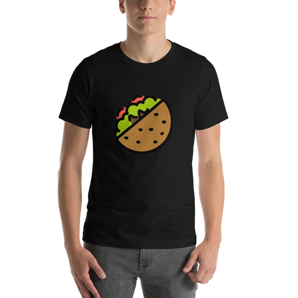 Emoji T-Shirt Store | Stuffed Flatbread emoji t-shirt in Black