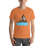 Emoji T-Shirt Store | Sailboat emoji t-shirt in Orange