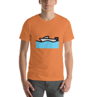 Emoji T-Shirt Store | Motor Boat emoji t-shirt in Orange