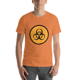 Emoji T-Shirt Store | Biohazard emoji t-shirt in Orange