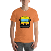 Emoji T-Shirt Store | Oncoming Bus emoji t-shirt in Orange