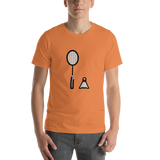Emoji T-Shirt Store | Badminton emoji t-shirt in Orange