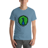 Emoji T-Shirt Store | Peacock emoji t-shirt in Blue