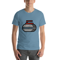 Emoji T-Shirt Store | Curling Stone emoji t-shirt in Blue