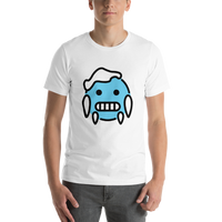 Emoji T-Shirt Store | Cold Face emoji t-shirt in White
