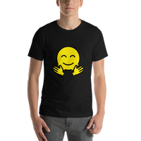 Emoji T-Shirt Store | Hugging Face emoji t-shirt in Black