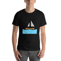 Emoji T-Shirt Store | Sailboat emoji t-shirt in Black