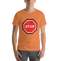 Emoji T-Shirt Store | Stop Sign emoji t-shirt in Orange