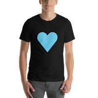 Emoji T-Shirt Store | Blue Heart emoji t-shirt in Black