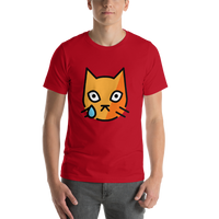 Emoji T-Shirt Store | Crying Cat emoji t-shirt in Red
