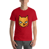 Emoji T-Shirt Store | Cat With Wry Smile emoji t-shirt in Red