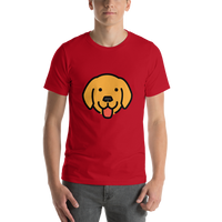 Emoji T-Shirt Store | Dog Face emoji t-shirt in Red