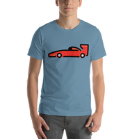 Emoji T-Shirt Store | Racing Car emoji t-shirt in Blue