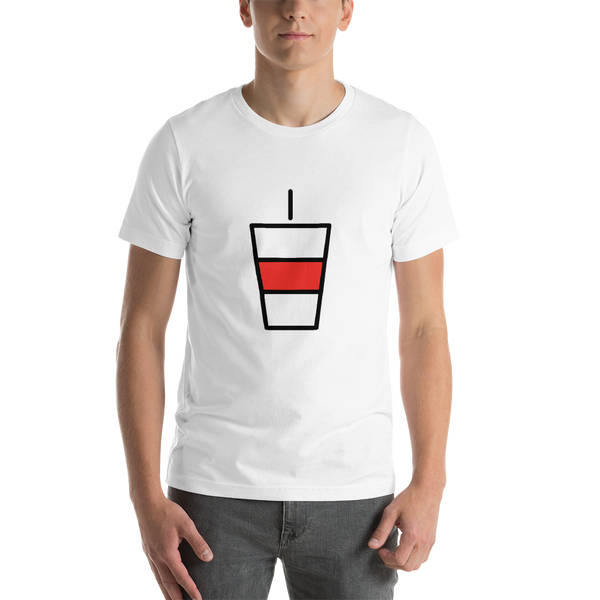 Emoji T-Shirt Store | Cup With Straw emoji t-shirt in White