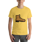 Emoji T-Shirt Store | Hiking Boot emoji t-shirt in Yellow
