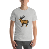 Emoji T-Shirt Store | Deer emoji t-shirt in Light gray
