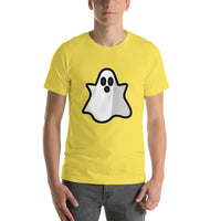 Emoji T-Shirt Store | Ghost emoji t-shirt in Yellow