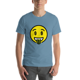 Emoji T-Shirt Store | Money-Mouth Face emoji t-shirt in Blue