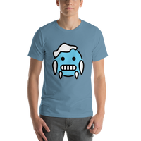 Emoji T-Shirt Store | Cold Face emoji t-shirt in Blue