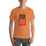 Emoji T-Shirt Store | Chocolate Bar emoji t-shirt in Orange