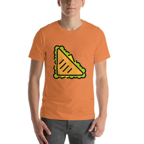 Emoji T-Shirt Store | Sandwich emoji t-shirt in Orange