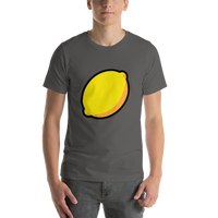 Emoji T-Shirt Store | Lemon emoji t-shirt in Dark gray
