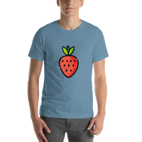 Emoji T-Shirt Store | Strawberry emoji t-shirt in Blue