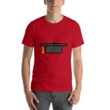 Emoji T-Shirt Store | Graduation Cap emoji t-shirt in Red