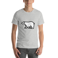 Emoji T-Shirt Store | Polar Bear emoji t-shirt in Light gray
