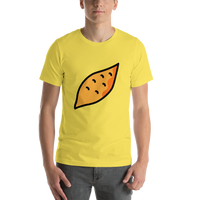 Emoji T-Shirt Store | Roasted Sweet Potato emoji t-shirt in Yellow