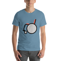 Emoji T-Shirt Store | Manual Wheelchair emoji t-shirt in Blue