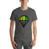Emoji T-Shirt Store | Parachute emoji t-shirt in Dark gray