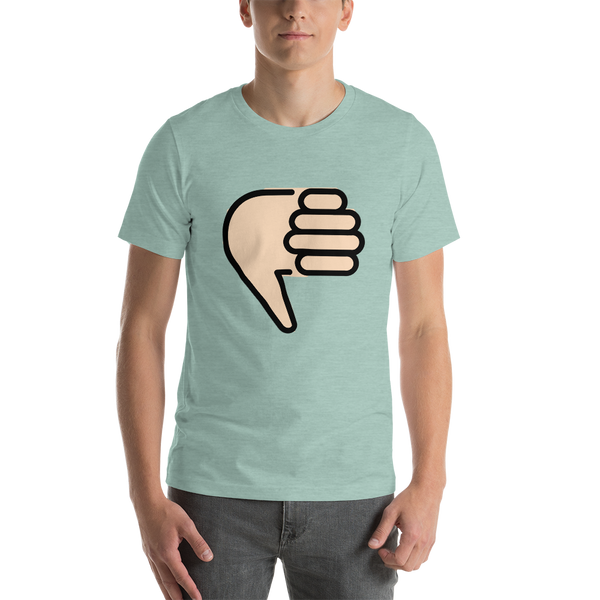 Emoji T-Shirt Store | Thumbs Down, Light Skin Tone emoji t-shirt in Green