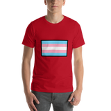 Emoji T-Shirt Store | Transgender Flag emoji t-shirt in Red