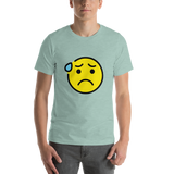 Emoji T-Shirt Store | Anxious Face With Sweat emoji t-shirt in Green